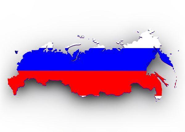 Russland Karte auf Russisch für Anfänger